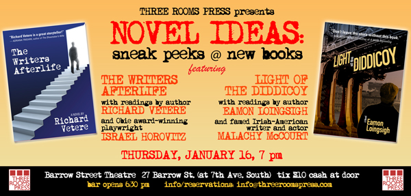 Novel Ideas at Barrow Street Theatre feat. Israel Horovitz, Malachy McCourt, Richard Vetere and Eamon Loingsigh