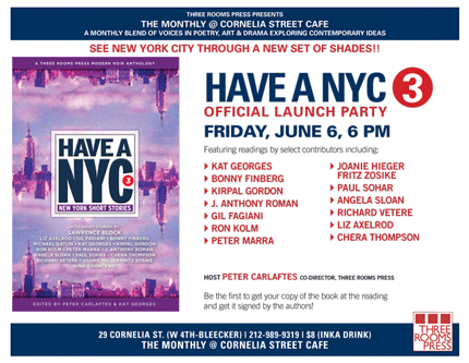 HAVE A NYC 3: New York Short Stories! Launch 6/6/14 @ Cornelia St. Cafe