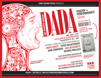 May 7: Dada Performance Salon in The Gallery at Le Poisson Rouge, NYC