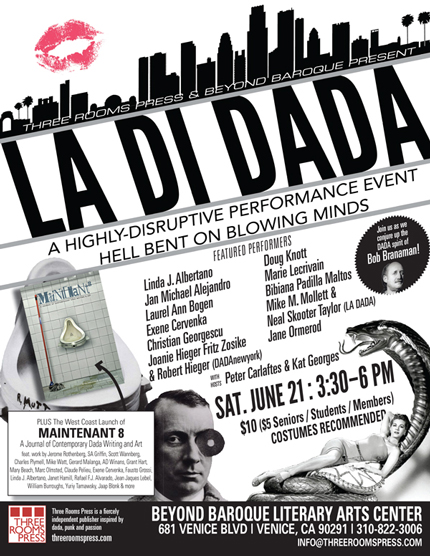 3RP presents LA-Di-DADA 2nd Annual Dada Fest Los Angeles at Beyond Baroque