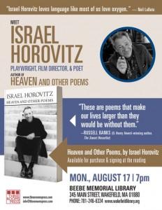 081715-Horovitz-Reading-BeebeLibrary-flyer-v1