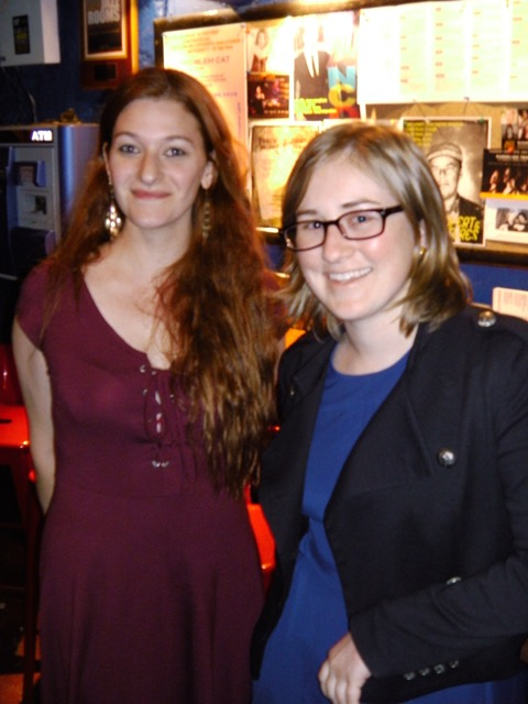 Editor Constance Renfrow with 3RP intern Megan Zimlich