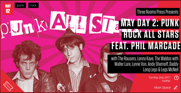 May 2: PUNK ROCK ALL STARS: NYC launch of PUNK AVENUE @ Le Poisson Rouge | New York | New York | United States