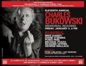010518 -  THE MONTHLY - BUKOWSKI Memorial Reading @ Cornelia Street Cafe | New York | New York | United States