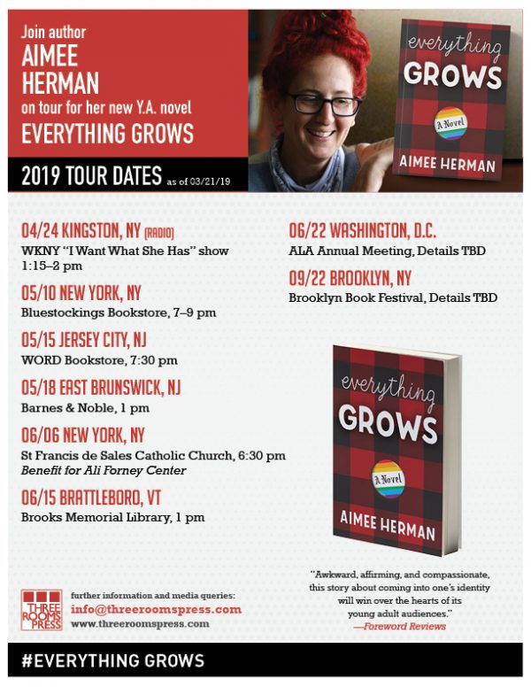 EVERYTHING GROWS Author Aimee Herman: 2019 Tour Dates
