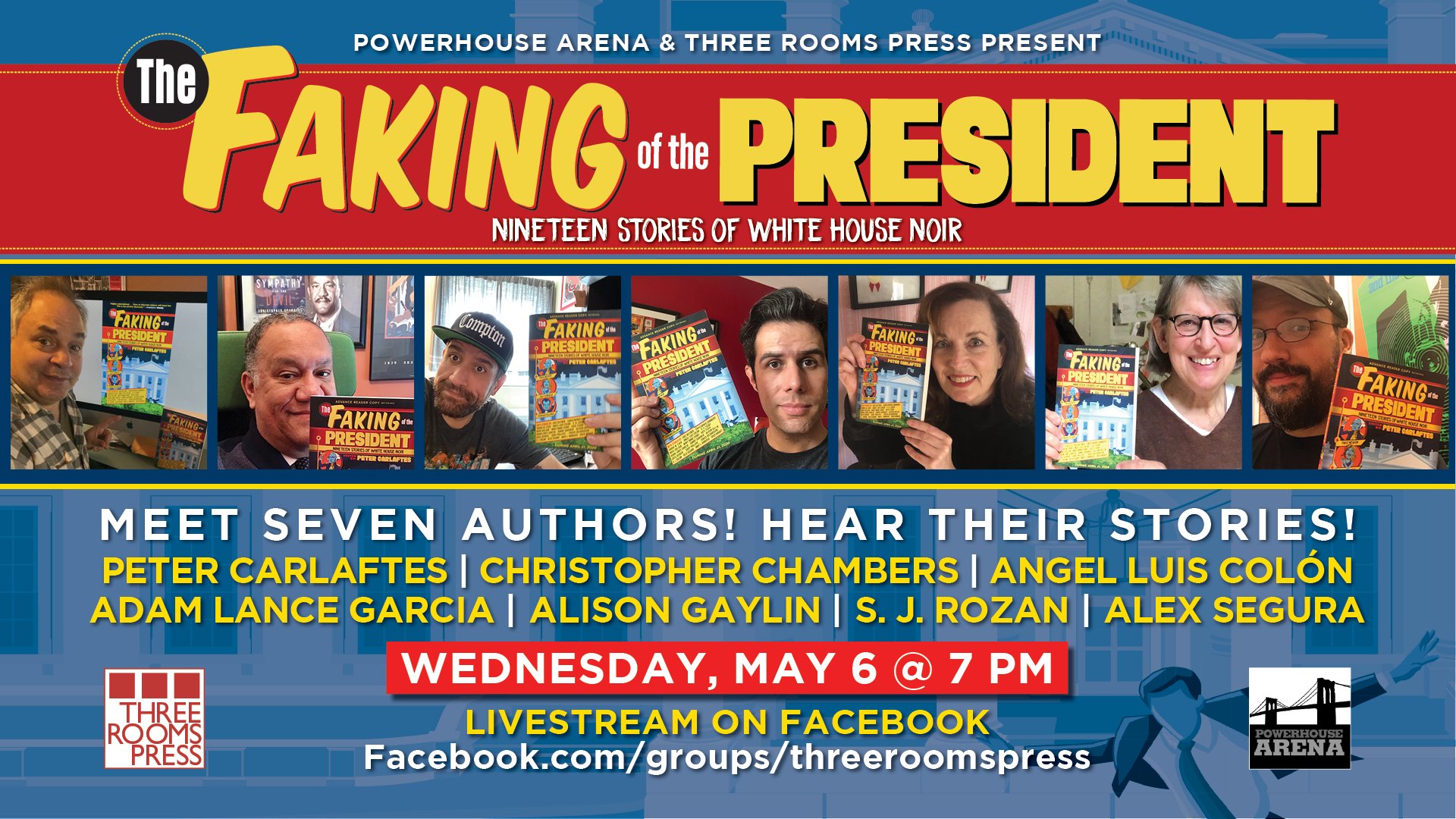 Powerhouse Arena and Three Rooms Press present A Virtual Launch for THE FAKING OF THE PRESIDENT